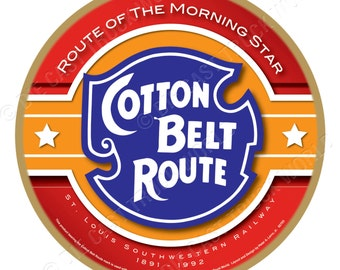 Cotton Belt Route Railroad Wood Plaque / Sign