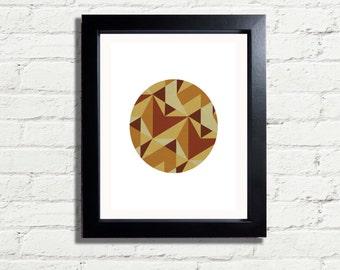 Geometric Shapes Earth Tones Modern minimalism Art Print INSTANT DIGITAL DOWNLOAD 300 dpi minimalist Style Wall Hanging Gift idea