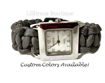 Paracord Wrist Watch - Custom Handmade to Order