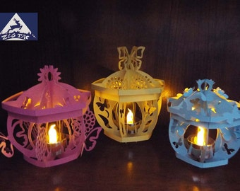 3D SVG, studio and PDF files 3 Butterfly Lanterns