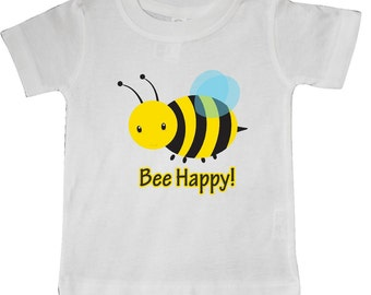 Bee Happy! Baby T-Shirt by Inktastic