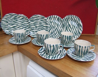Retro Barker Brothers Caribbean pattern part teaset