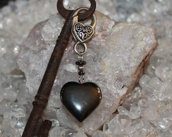 Hematite Charm - to your Heart