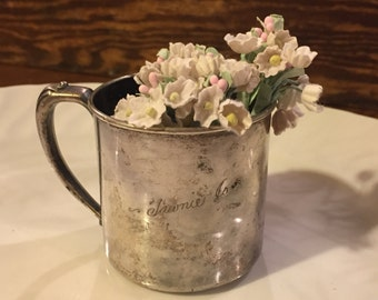 Sweet silver baby cup