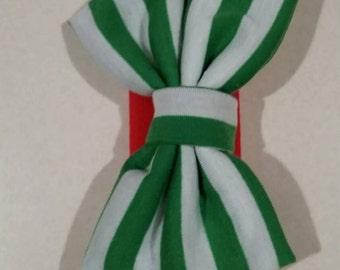 Green and Red Christmas  Headband