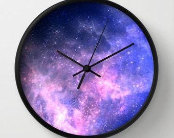 galaxy Clock, Modern Wall Clock, Modern Clock, The Modern Clock, Black and white clock, space clock, modern wall clock