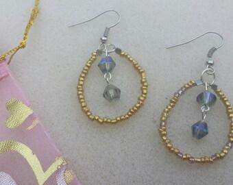 Fancy Gold Dangle Ear Rings by L.dot