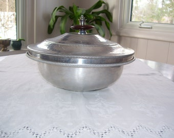 Buenilum Serving Dish Buenilum Casserole Hammered Aluminum Covered Dish Vintage