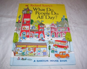 Richard Scarry's What Do People Do All Day? HC 1979 Vintage