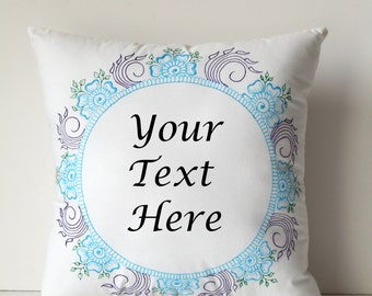 Personalized Cushion - Henna Art Cushion Pillow - Personalized Gift - Hand Painted Cushion - Personalized Pillow - Unique Gift - Handmade