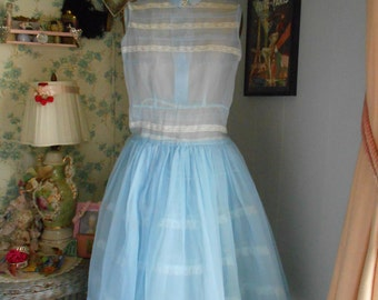 1950's Powder Blue Party/Prom Dress