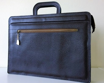 Mad Men 1960s Attache' Portfolio Leather Look Men's Briefcase