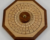 Wooden Cipher Wheel, English plain text and English cipher text, Maple