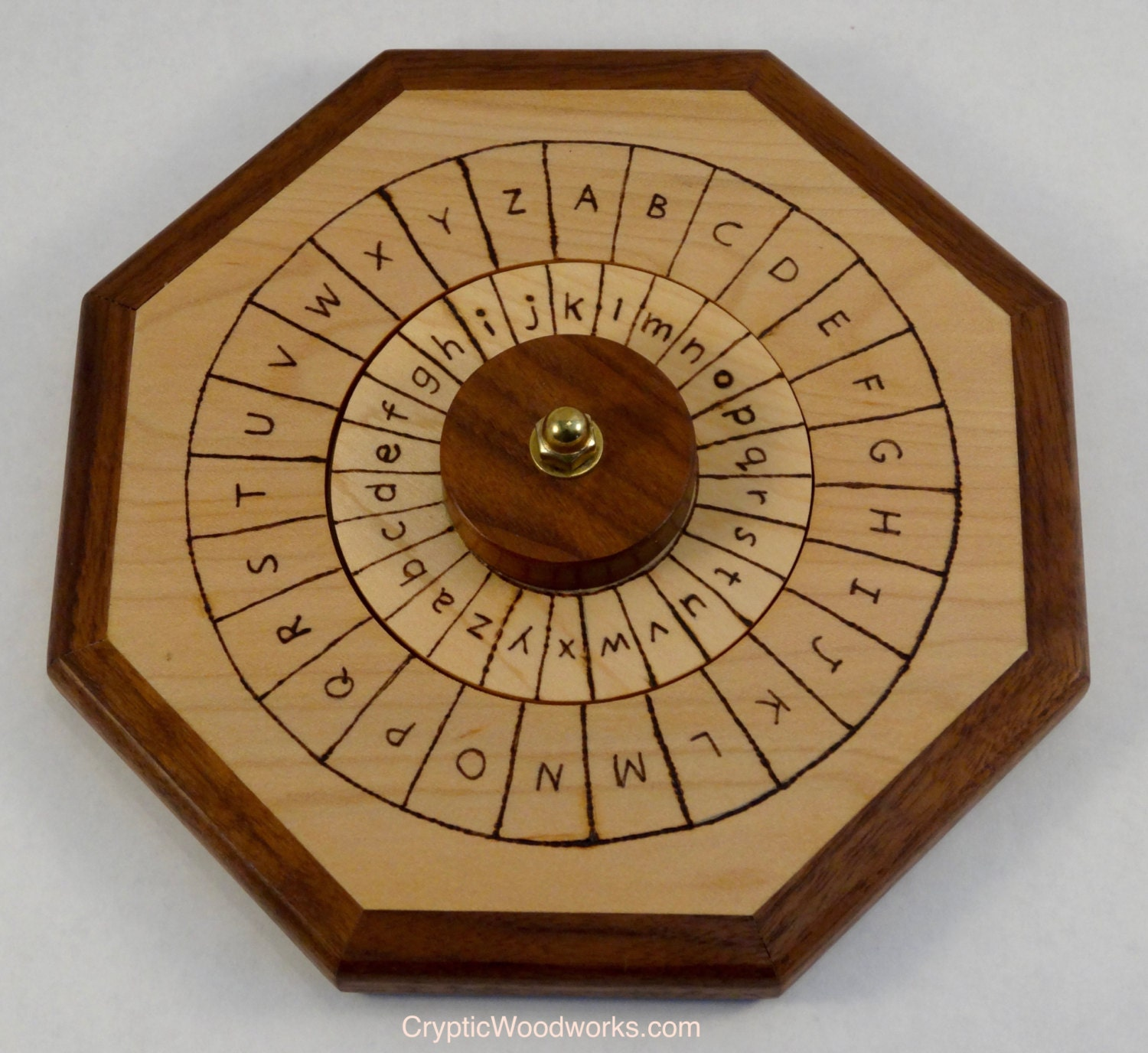 Wooden Cipher Wheel English Plain Text And English Cipher