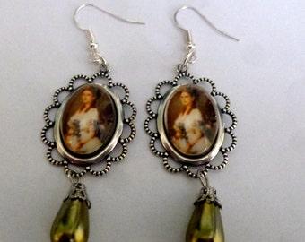 Cameo earrings Sissi Empress