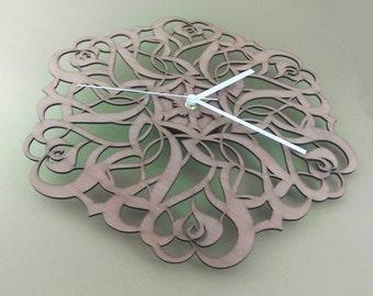 "Wooden wall clock ""ROSES"""