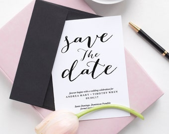 Save the Date, Save the Date Template, Save the Date Invitation, Save the Date Cards, Wedding Printable Template, PDF Instant Download #BPB3