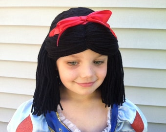 Snow White costume, Costume wig, Princess costume wig, Snow White Wig, Girls costume, Dress up clothes, Costume Hair, Kids Halloween wig