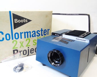Vintage Boots Colormaster 2x2 Slide Projector With Original Box