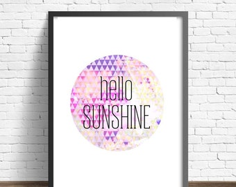 Hello Sunshine Geometric Print