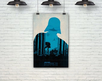 Return of the Jedi. Star Wars Poster. Darth Vader Art Print. Modern Home Wall Decor Art. Gift For Him. Gift For Boy. Item No.: 126