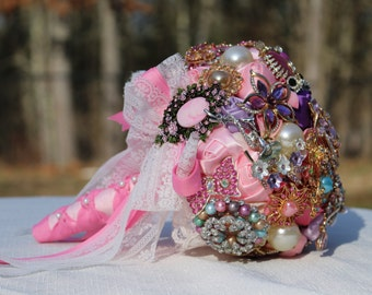 Pretty in Pink- Brooch Bouquet