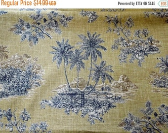 """25% OFF Waverly Toile Fabric Island Inn BTY 54"""" Textile Vintage Linen Blend Seamstress Decorator Project DIY"""