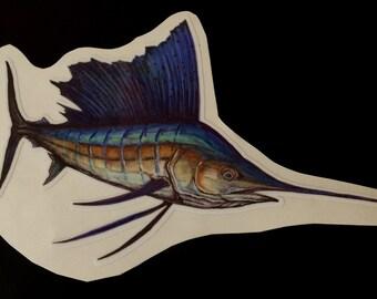 "9"" Sailfish Decal"