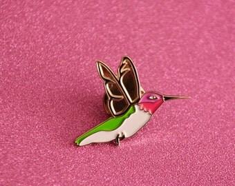 Hummingbird,hummingbird pin, hummingbird lapel pin,lapel pin,flair,enamel pin,soft enamel,bird,birds,bird pin,