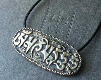 Brass Pendant Om Mani Padme Hum Pendant FB1809