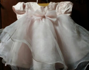 Little baby girl soft pink vintage ddress of quality,
