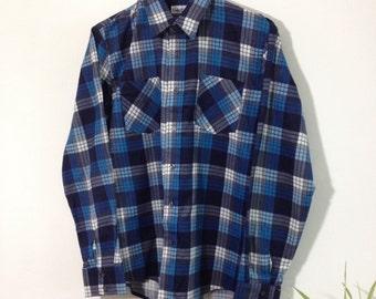 Vintage Blue Check Shirt