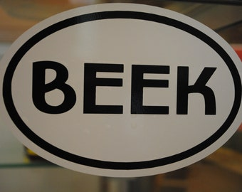 BEEK Vinyl Decal, Beekeeper Gift, Honey Bee Decal, Stocking Stuffer, Cool Gift, Show Your Passion