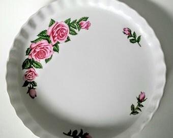 Pie Pan - Baking Pan - Vintage Baking Pan - Christineholm Quiche Dish - Vintage Kitchen Decor - Vintage Baking Pan - Porcelain Quiche Pan