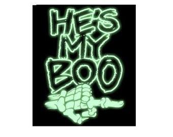 t-shirts : he's my boo