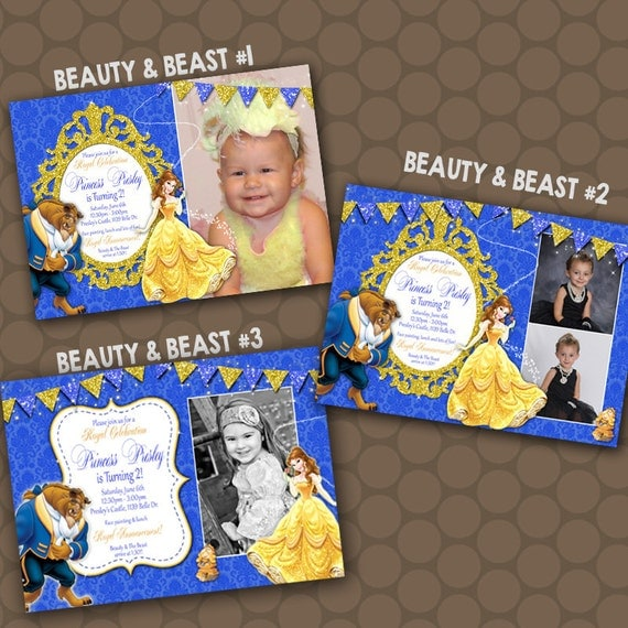 Items similar to belle beauty and the beast birthday party for Www uprint com templates