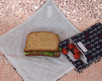Reusable Snack Bag w/ Sandwich Wrap Set