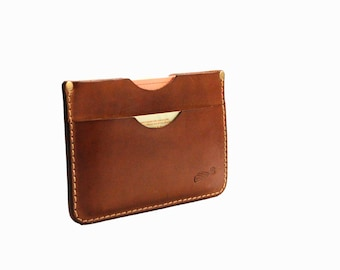 Leather Wallet - Mini Wallet - Card Case - Card Holder