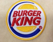 Burger King Logo Iron On Embroidery Patch
