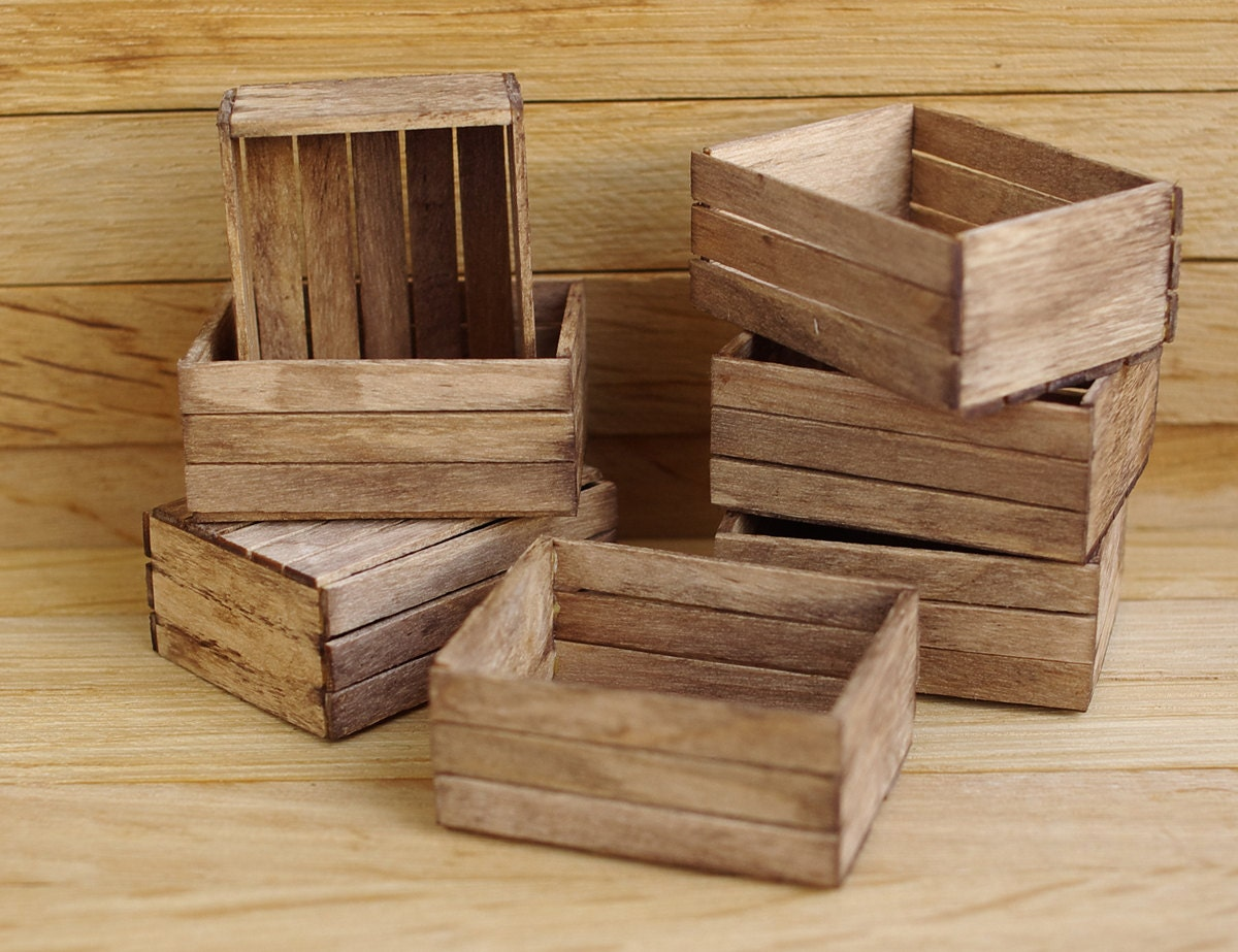 miniature crate miniature wooden boxes wooden box in the