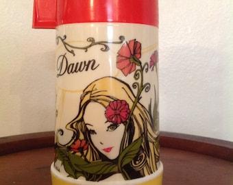 1970 Dawn Thermos by Aladdin / vintage Dawn thermos, vintage Aladdin thermos, 1970's Dawn thermos