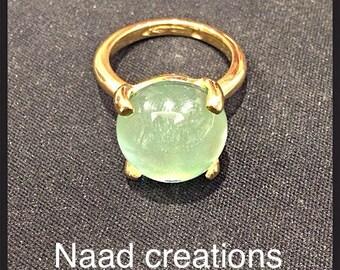 18 carat gold ring.