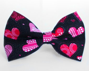 Valentines Bow Tie, Heart Bow Tie, Boys Bow Tie, Bow Tie for Wedding, Dog Bow Tie, Mens Bow Tie, Formal Bow Tie, Bow Tie Dog, For Him