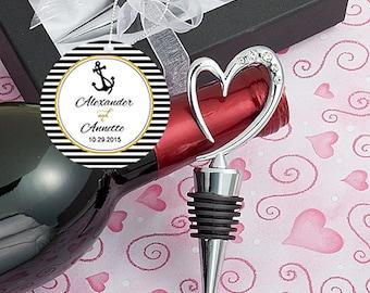 Wedding favors - 6 Wine bottle stoppers wedding shower favors, bridal shower favors, unique wedding favors, wedding favor ideas