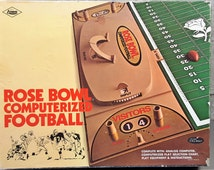 """Vintage 1970 E.S. Lowe Co """"Rose Bowl Computerized Football"""" Board Game w/Analog Computer, Computerized Play Selection Chart, No Instructions"""