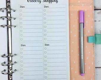 A5 Kawaii Planner Insert - Grocery List