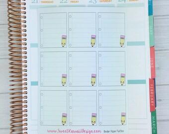 Kawaii Binder Paper Full Box Stickers