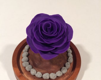 Purple Rose, Beauty and the Beast rose, Enchanted Rose, Beauty and the Beast wedding, Glass Rose Dome, Handcrafted, glass
