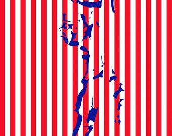 Edward Stripe Colour Print