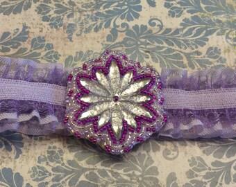 Lavender Snow Flower Infant/Toddler Headband